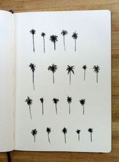 20 baby palm trees by Mia Nolting. Illustrations, Illustration Art, Am Meer, Art Graphique, Piercing Tattoo, Future Tattoos, Moleskine, Ink Art, Small Tattoos