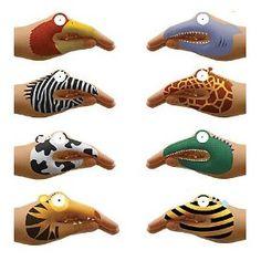 Animal Hand Tatoos- facepainting ideas!