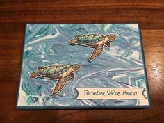 Stampin Up! Mother's Day, From Land to Sea, Turtles, Indigo Blue, Bermuda Bay