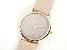 CREME Armbanduhr schlicht elegant gold-farbend von Kleines Karma - Natur & Trend Schmuck, Ketten & Colliers, Uhren &  Accessoires aus Berlin auf DaWanda.com