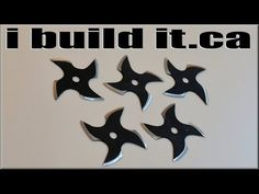 Projects for men: Hot to Make Ninja Throwing Stars Out of a Saw Blade
