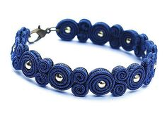 Hey, I found this really awesome Etsy listing at https://www.etsy.com/listing/199812157/soutache-beaautiful-bracelet-navy-blue