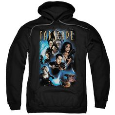 FARSCAPE/COMIC COVER-ADULT PULL-OVER HOODIE-BLACK