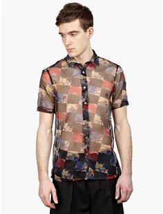 Raf Simons Men's Graphic Floral Shirt | oki-ni