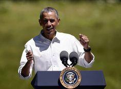 President Barack Obama delivers a speech in Yosemite National Park on Saturday, June 18, 2016.