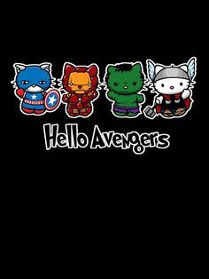 Funny pictures about Hello Avengers. Oh, and cool pics about Hello Avengers. Also, Hello Avengers. Troll, Hello Kitty Imagenes, Avengers Fan Art, Funny Avengers, Be My Hero, Wonderful Day, Spiderman, Batman, Nerd Love