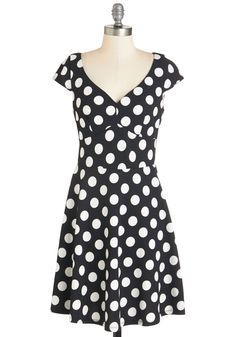 Get It, Dot It, Good! Dress. It's obvious by your love for this polka-dotted dress that you've got a handle on creating a flirtatious look! #black #modcloth