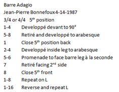 Ballet Combinations: Adagio Barre Combination