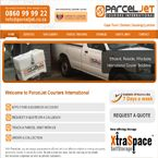 Parcel Jet website design created by Nuleaf!