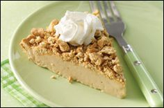 Low cal Peanutbutter pie! Serving Size: 1 slice (1/8th of recipe)  Calories: 159. This is a Hungry Girl recipe!