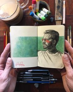 "210 Me gusta, 7 comentarios - Art Realistique (@realistique_arts) en Instagram: ""By @itsbrogersyo . . Follow @daily.food.doze . . #art #artist #paint #painting #drawing #drawings…"" Sketchbook Tumblr, Moleskine Sketchbook, Sketchbooks, Art Sketches, Art Drawings, Drawing Drawing, Journal Vintage, Art Gallery, Art Journal Techniques"