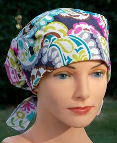 178e433a0e5 Scrub Hats for Women - Small to Medium - Boho Bandanas