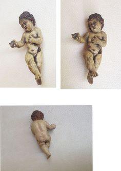 RELIGIOUS 1700s CHILD JESUS  CLAY  STATUE_1700 BABY JESUS SCULPTURE COLLECTIBLE