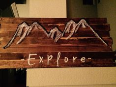 Mountain string art!