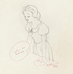 Snow White Production Animation Drawing