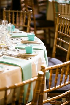 Aqua Napkins And Favors