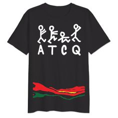 ATCQ Figures Stripe T-Shirt - A Tribe Called Quest Official Store Merchandise