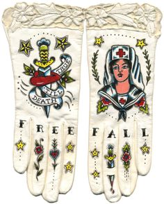 Jaw Dropping Love ... painted gloves