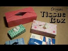 Video instructions to make your very own origami mini kleenex tissue box.