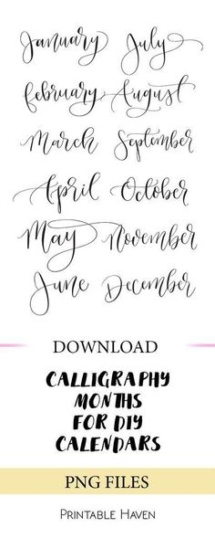Calendar Lettering Best Picture For Art journal For Your Taste You are looking for something, and it is going to Bujo, Creative Lettering, Brush Lettering, Hand Lettering Styles, Lettering Ideas, Hand Lettering Quotes, Lettering Tutorial, Typography Fonts, Calligraphy Letters