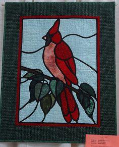 Stained Glass Cardinal - Susan Kirkham