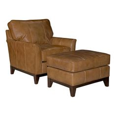 Look what I found on Wayfair!  Nice color leather chair with ottoman