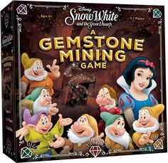 Disney Snow White and The Seven Dwarfs: A Gemstone Mining Competitive Strategy Press Your Luck Board Game Best Family Board Games, Board Games For Kids, Disney Games, Disney Films, Mining Games, Snow White Movie, Press Your Luck, Walt Disney Parks, Disney Furniture