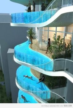 balcony pools. Freaky engineering feet!!!