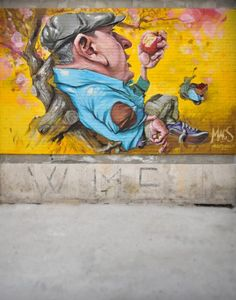 "Macs - Italian Street Artist - ""I don't miss anything""  - Pescara (IT) - 2014 #macs #streetart"