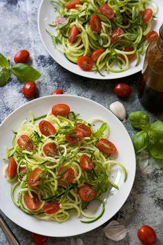 Zucchini Caprese Salad. So yummy and healthy!