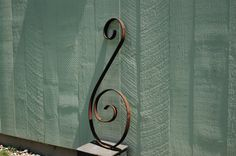 #Vintage #WroughtIron #ArchitecturalSalvage, Large Rusty Iron Scroll, Bass Clef Wall Art, Iron Curly Cue, Salvage Art, Garden Patio Industrial Decor