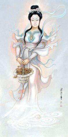 Chinese Painting, Chinese Art, Wire Art, Geisha, Asian Art, Japanese Art, Asian Woman, Pretty Girls, Buddha