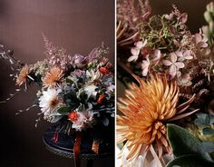 Summer and Autumn in one - Love the antique look and muted colors, with pops of bright and dark