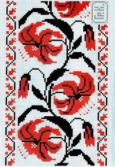 Cross Stitch Borders, Cross Stitch Rose, Simple Cross Stitch, Cross Stitch Flowers, Cross Stitch Designs, Cross Stitching, Cross Stitch Embroidery, Cross Stitch Patterns, Border Embroidery Designs