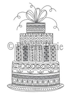 Cake Coloring Pages for Adults Best Of Colouring Page Cake Birthday Cupcake Coloring Pages, Wedding Coloring Pages, Pattern Coloring Pages, Coloring Book Pages, Printable Coloring Pages, Happy Birthday Cards Handmade, Cute Birthday Cards, Birthday Stuff, Cake Birthday