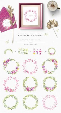 Allegra Watercolor Clipart Collection  #ad