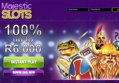 South Africans can get free no deposit bonus + up to free when joining Majestic Slots online casino. Enjoy top notch RTG casino games, incredible bonuses and huge Slots Jackpots on your PC or via your mobile phone Bingo Casino, Casino Bonus, Casino Games, Online Casino Reviews, Mobile Casino, Free Slots, Slot Online, The Incredibles, Sign