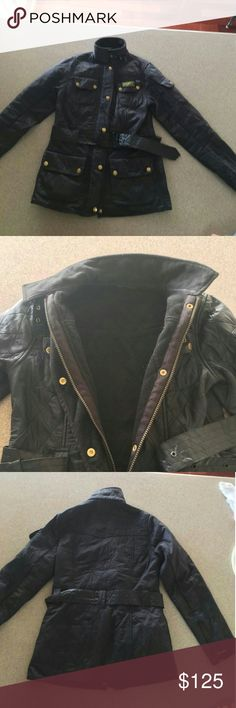 Barbour International quilted coat size 4US 6UK Barbour International coat very warm fitted look size 4 quilted true to size Barbour Jackets & Coats
