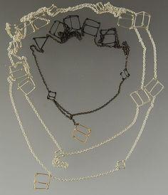 Kate Barton  - NZ  Prism Double chain  stg silver  295$    9  Prism Single chain  stg silver, 9ct gold