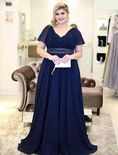 v neck long navy blue mother of the bride dresses  navybluedresses   motherofthebridedresses  longdresses c91e0ae2d7fc