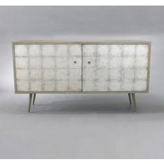 DwellStudio Franklin Media Cabinet - Silver Leaf