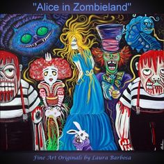 """Laura Barbosa's """"Alice in Zombieland"""" check out more of her amazing work at laurabarbosa.wordpress.com  Amazing stuff!"""