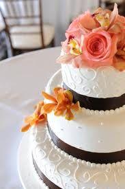 pink orange flower wedding cake - Szukaj w Google