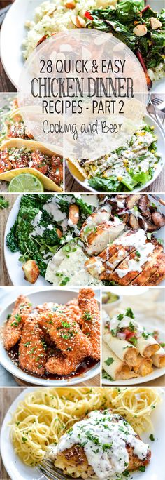 From chicken casserole to creamy, comforting soups and from sheet pan dinners to skillet stir fry, here are 28 quick and easy chicken dinner recipes!
