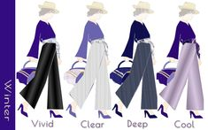 パーソナルカラー・ウィンターの紫