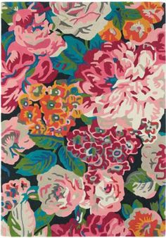 Charming Sanderson Stapleton Park Sanderson Rose And Peony Cerise 45005 Rug   Modern  Hand Tufted Amazing Pictures