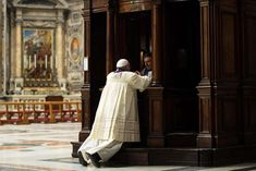 Image result for pope francis confessing