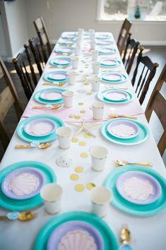 Mermaid Birthday Party Table Design