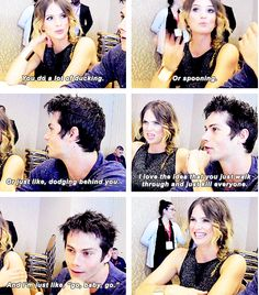 teen wolf - dylan and shelley - comic con #teen #wolf