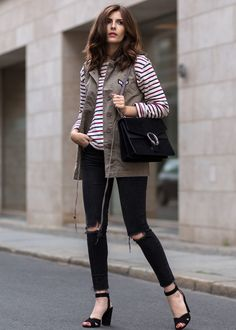 military-vest-with-striped-sweater